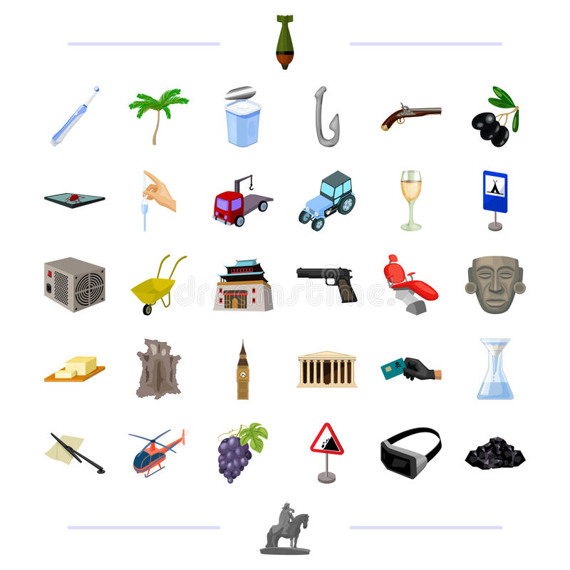 Weapons, travel, technology and other web icon in cartoon style. cooking, transport, medicine icons in set collection. Weapons, travel, technology and other vector illustration