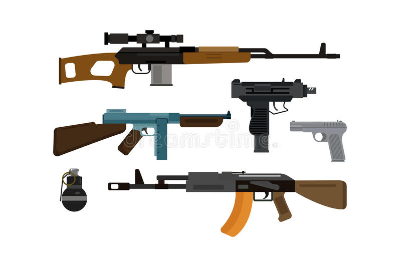weapons vector collection stock vector illustration of object rh dreamstime com  kriss vector assault rifle