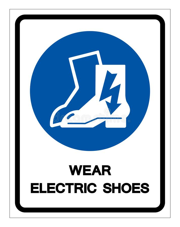 Wear Electric Shoes Symbol Sign, Vector Illustration, Isolate On White Background Label .EPS10 royalty free illustration