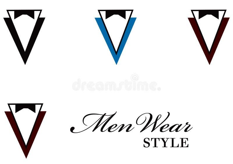 wear för 2 män royaltyfri illustrationer