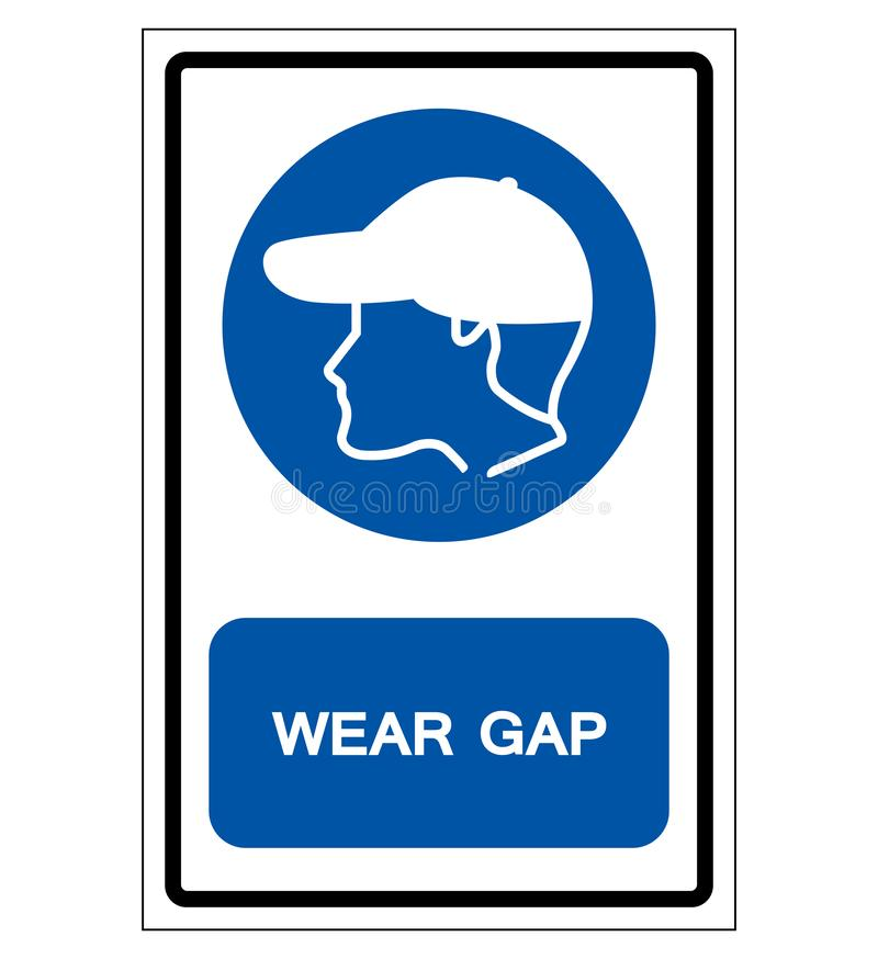 Wear Gap Symbol Sign, Vector Illustration, Isolate On White Background Label .EPS10 vector illustration