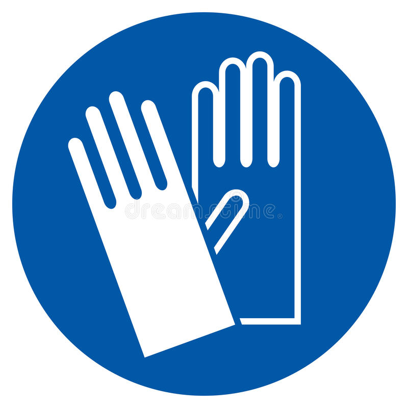 Wear Gloves - Safety Sign royalty free illustration