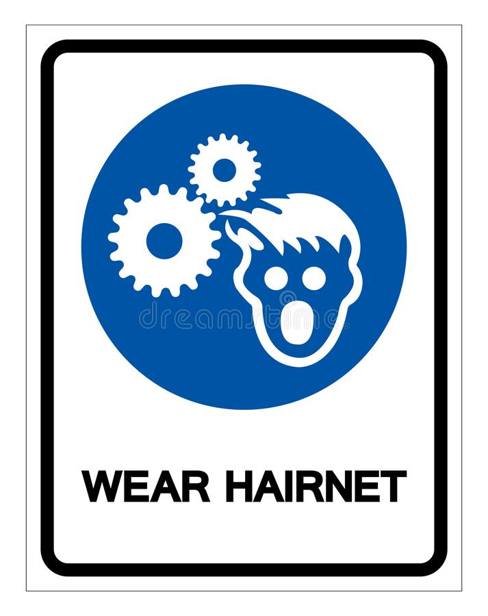 Wear Hairnet Symbol Sign, Vector Illustration, Isolate On White Background Label .EPS10 vector illustration