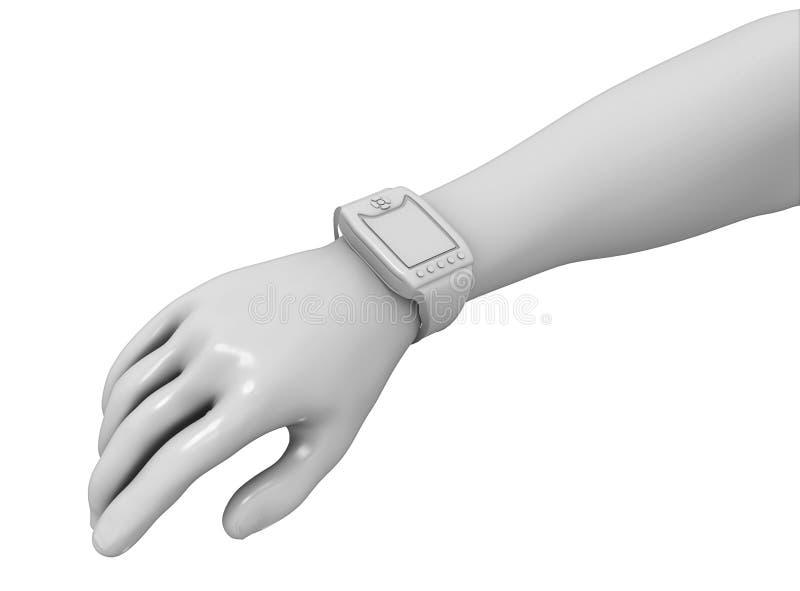 Wearable apparat på armen stock illustrationer