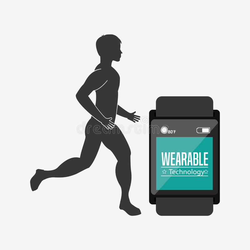 Wearable Technologieontwerp stock illustratie
