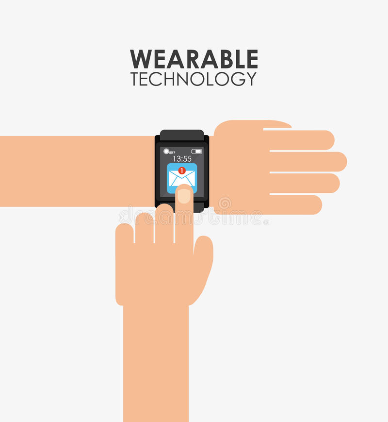 Wearable technology royalty free illustration