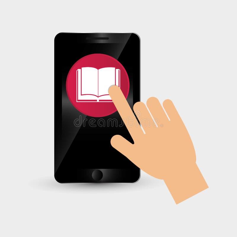 Wearable teknologidesign Social massmediasymbol smartphonebegrepp, vektorillustration vektor illustrationer