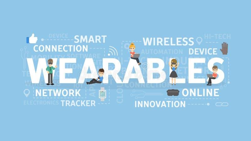 Wearables begreppsillustration stock illustrationer