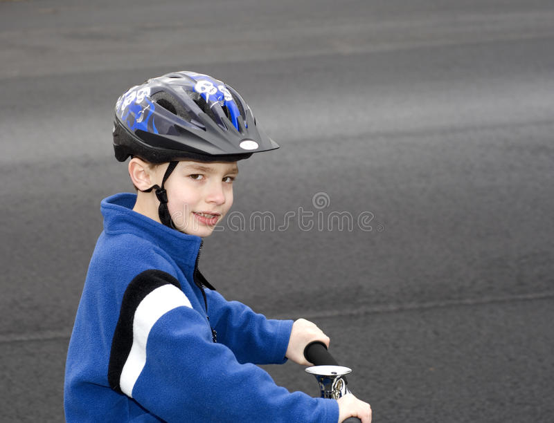 Wearing Helmet stock image