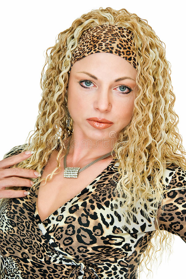Wearing in leopard tone stock images
