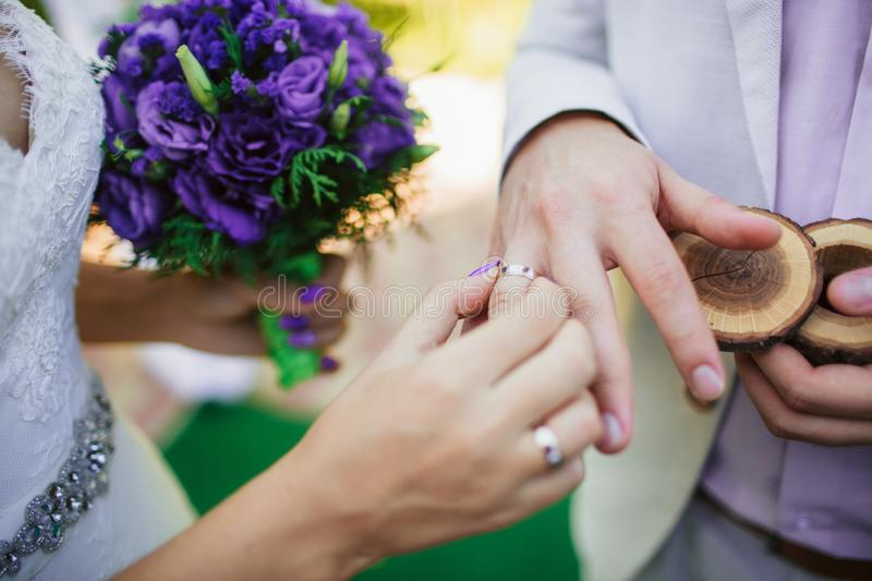 Wearing Wedding Ring Ceremony Tradition The Bride And Groom