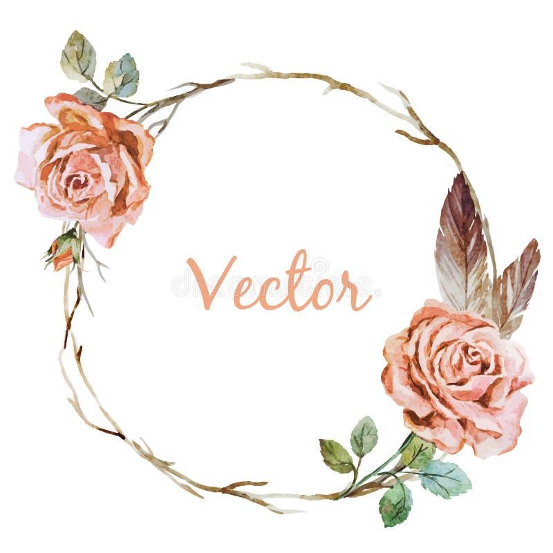 Wearth de Rosa ilustração do vetor