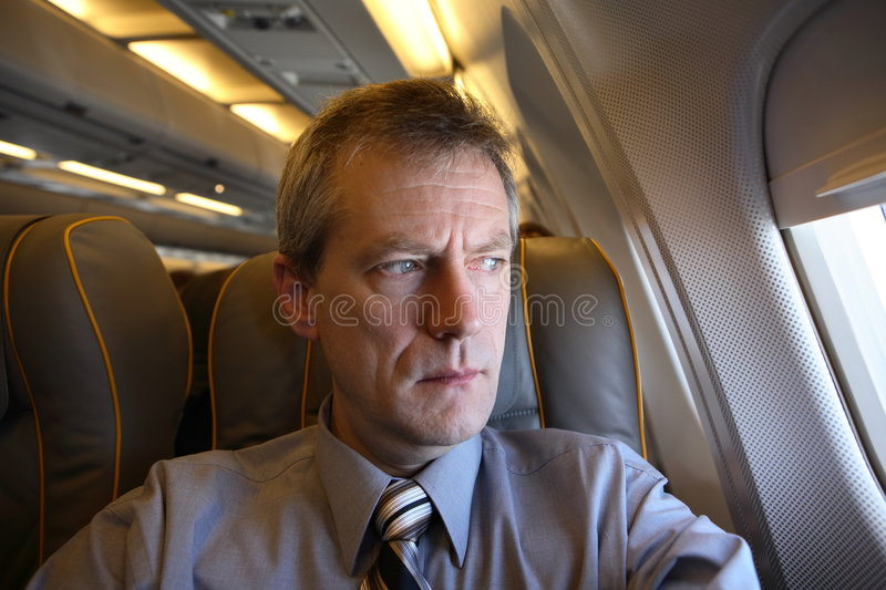 Download Weary air traveller stock photo. Image of class, airplane - 1416044