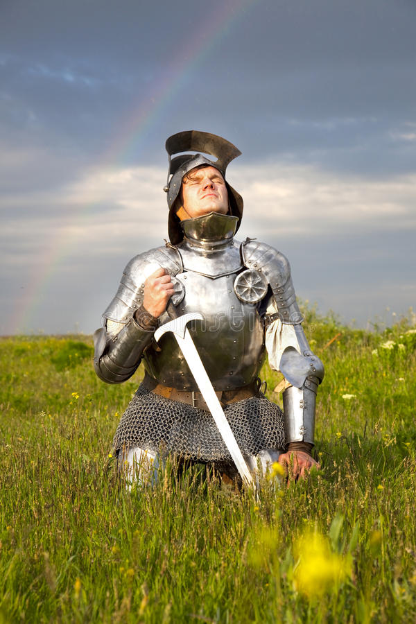 Free Weary Knight, After The Battle / Rain And Rainbow Stock Images - 10409204