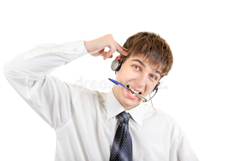 Download Weary Teenager With Headset Stock Photo - Image: 34747758
