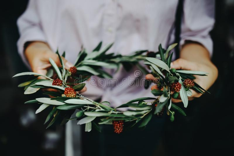 Weath av blommor royaltyfri fotografi