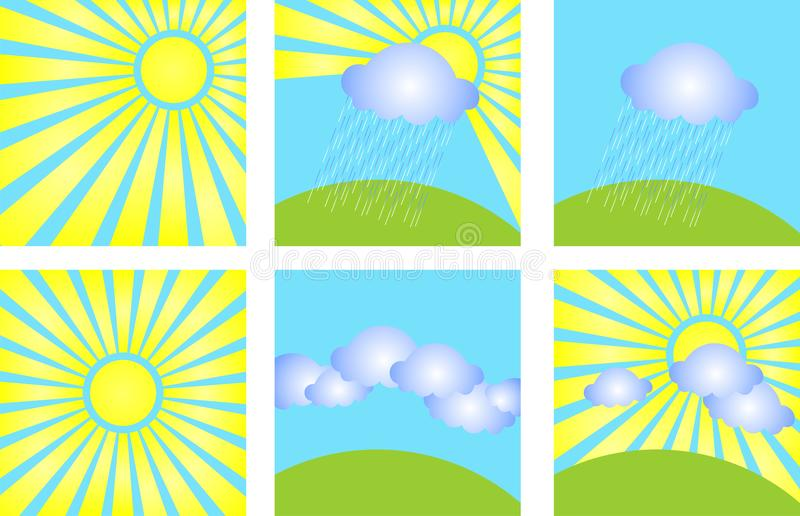 Download Weather stock vector. Illustration of sets, series, raindrop - 14416223