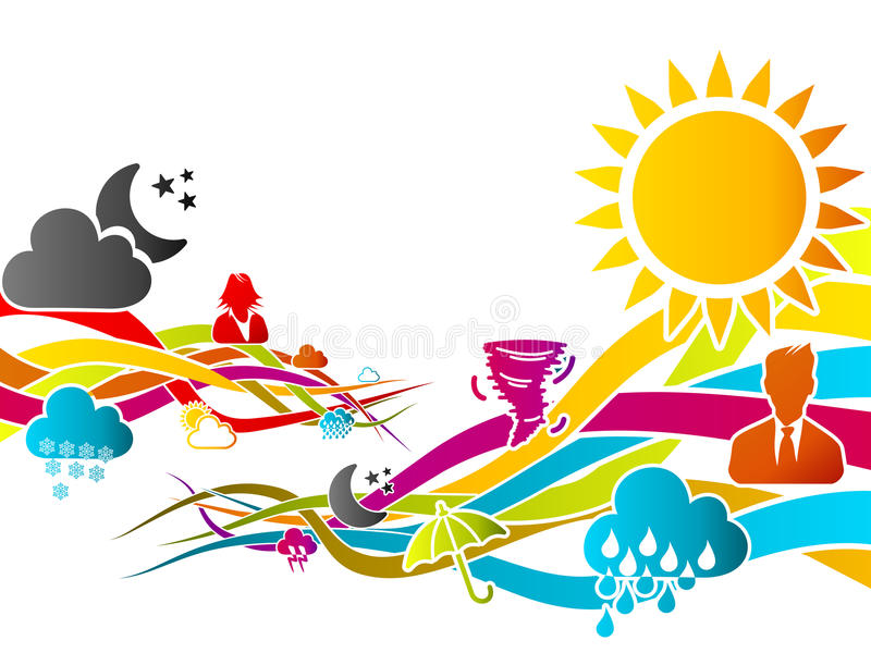Weather. Abstract motion concept about weather vector illustration vector illustration