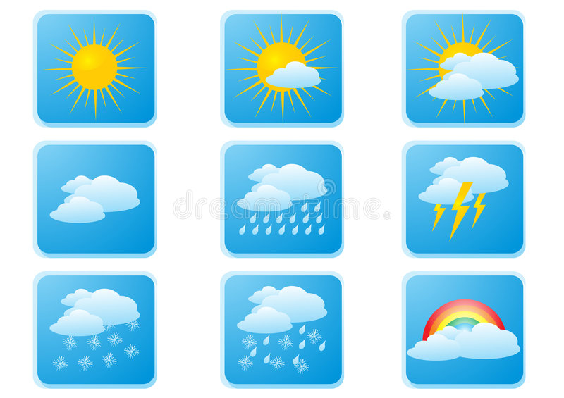 Download Weather buttons stock vector. Image of weather, white - 4683621