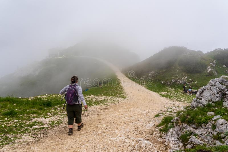 Austria Alps in the mist royalty free stock image