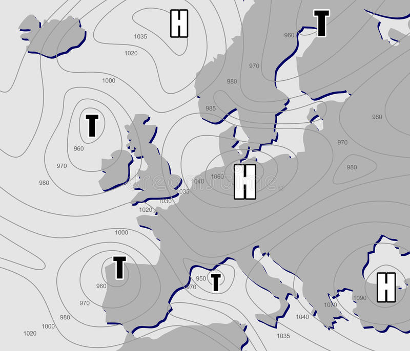 Weather chart stock illustration