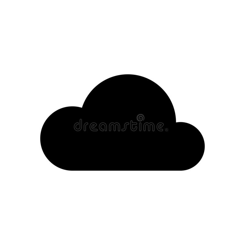 Weather cloudy icon simple vector illustration