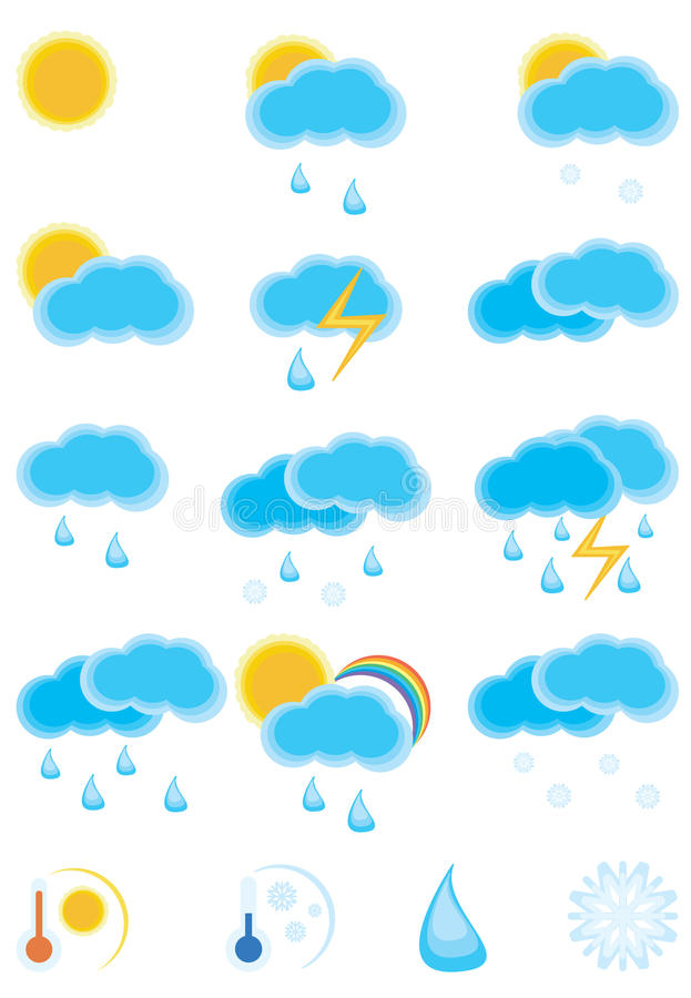 Weather Day Icon. Collection of the weather day icon. Please visit my portfolio to see weather night icon royalty free illustration