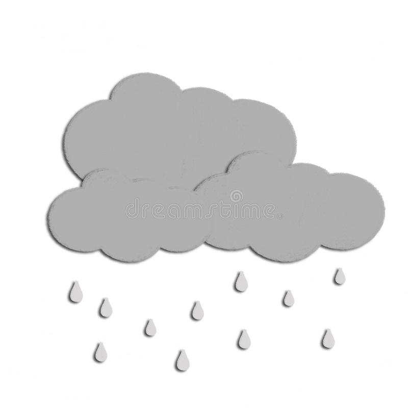 Weather drawing royalty free illustration