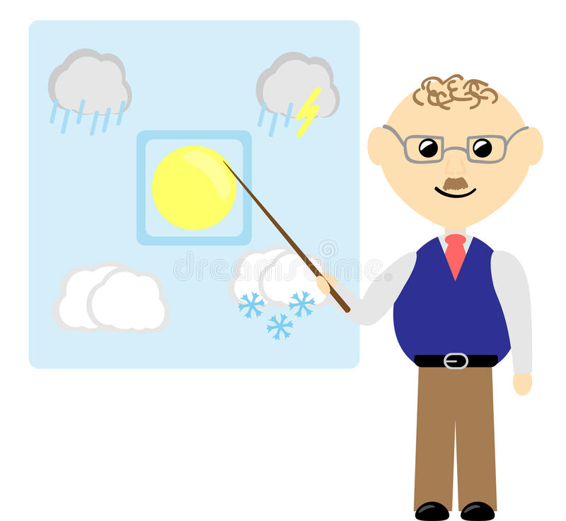 Weather forecast. Illustration of weather forecast (vector is available stock illustration