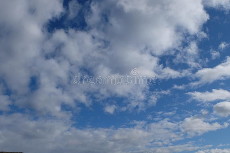 Weather forecast, cloudy blue sky background. Full sky clouds. royalty free stock images