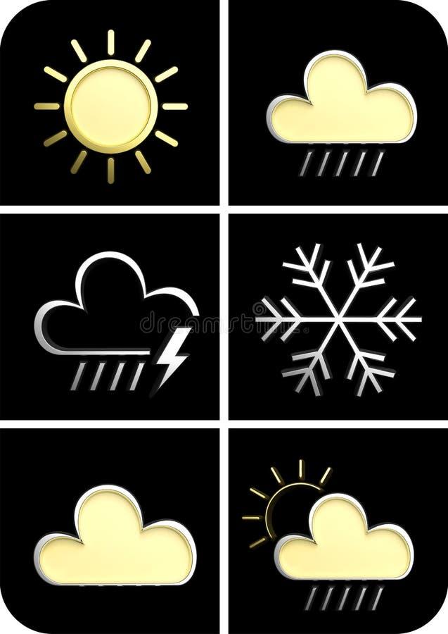 Weather forecast 3d vector illustration