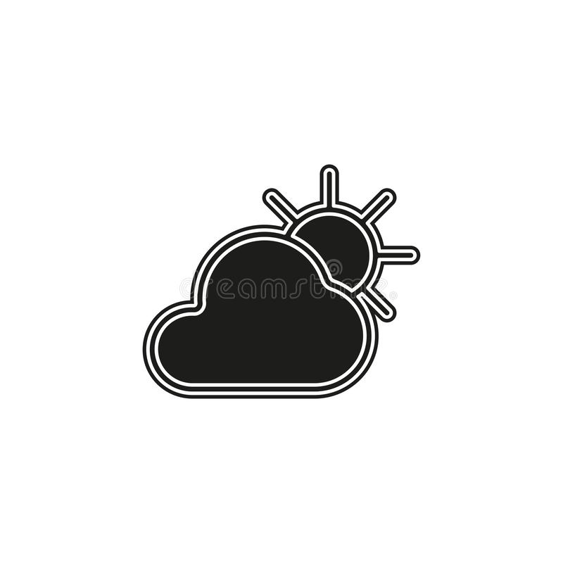 Weather forecast icon, seasons clouds. Flat pictogram - simple icon vector illustration