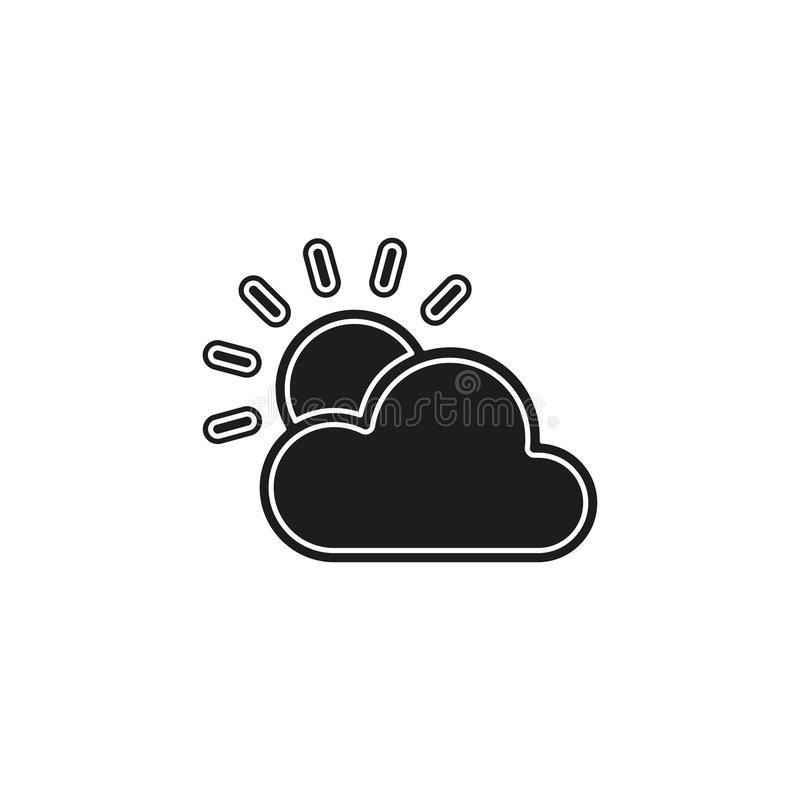 Weather forecast icon, vector seasons clouds, cloudy weather. Flat pictogram - simple icon vector illustration