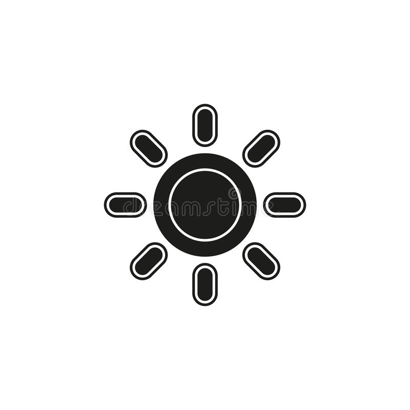 Weather forecast icon, vector seasons sunny weather, sunny weather. Flat pictogram - simple icon royalty free illustration