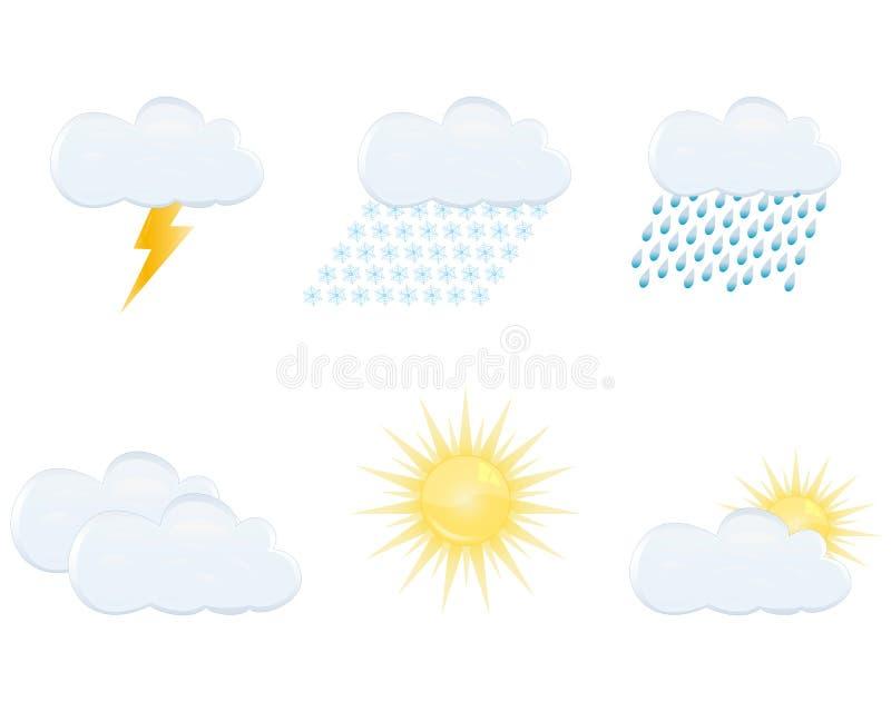 Weather Forecast Icons Stock Photography