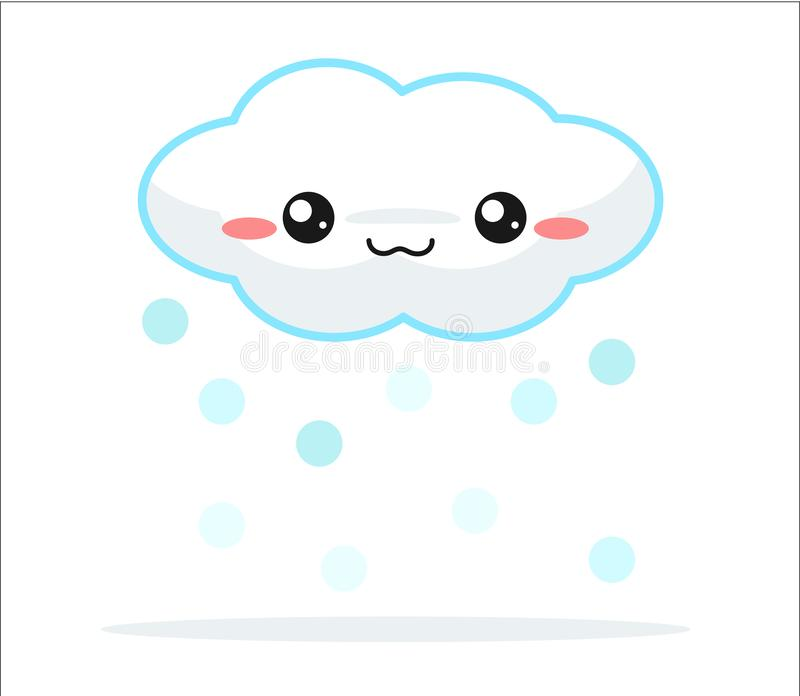 Weather forecast vector cute kawaii cartoon vector illustration