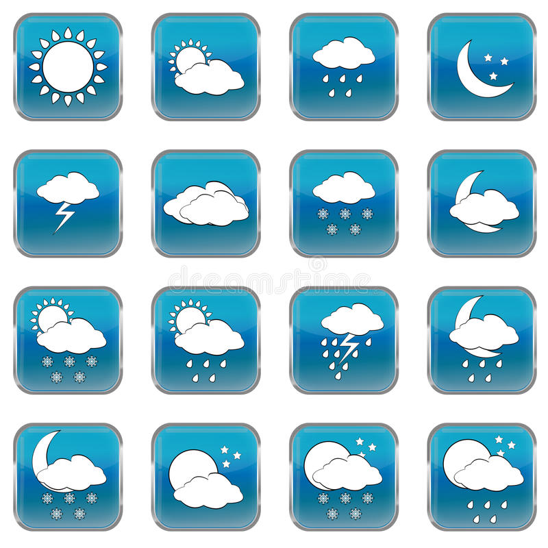 Download Weather Forecast Web Buttons Stock Vector - Image: 23266496