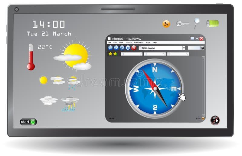 Weather Forecast Web Page Stock Image