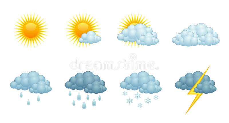 Weather forecast. On a white background royalty free illustration