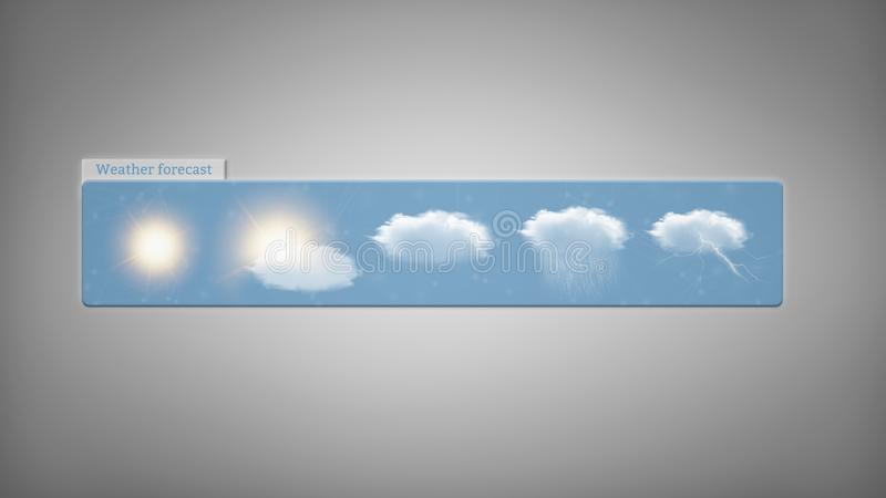 Weather Forecast widget isolated on a background. View of a Weather Forecast widget isolated on a background royalty free illustration