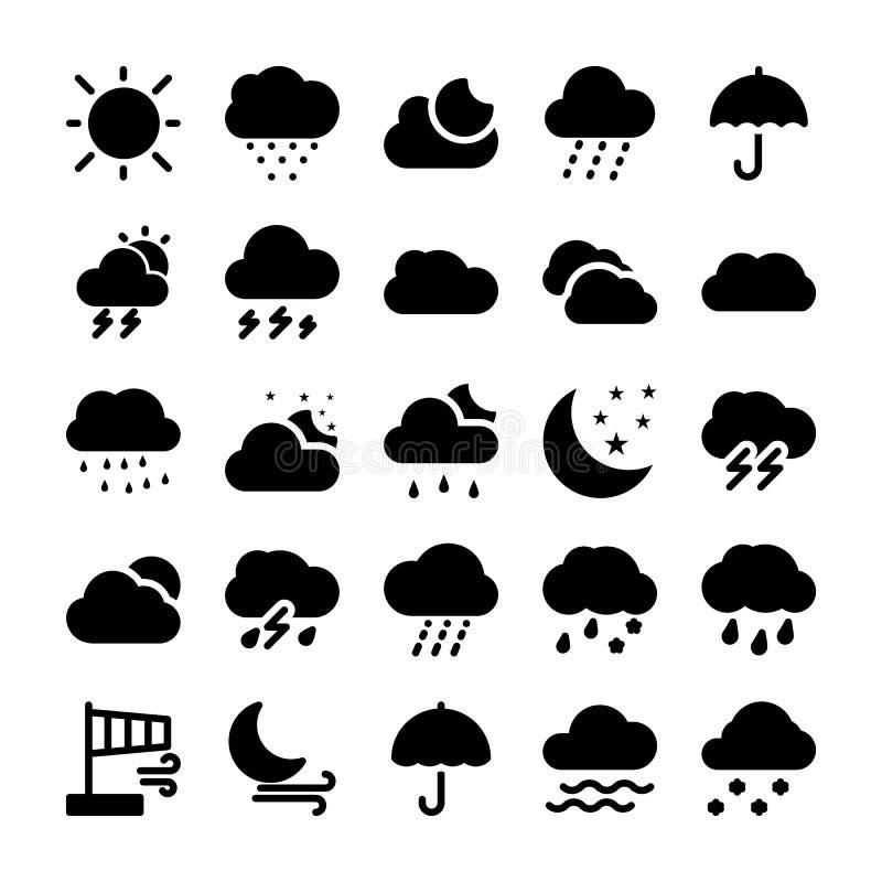 Weather Glyph Icons Set 1 royalty free illustration
