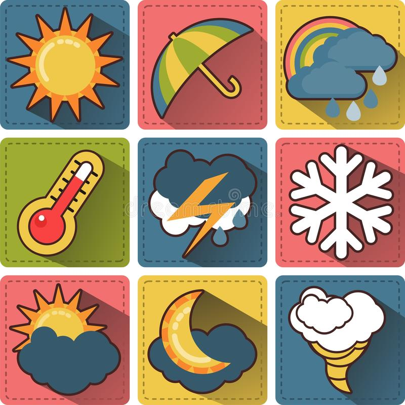 Download Weather iсons stock vector. Image of weather, tornadoes - 35525702