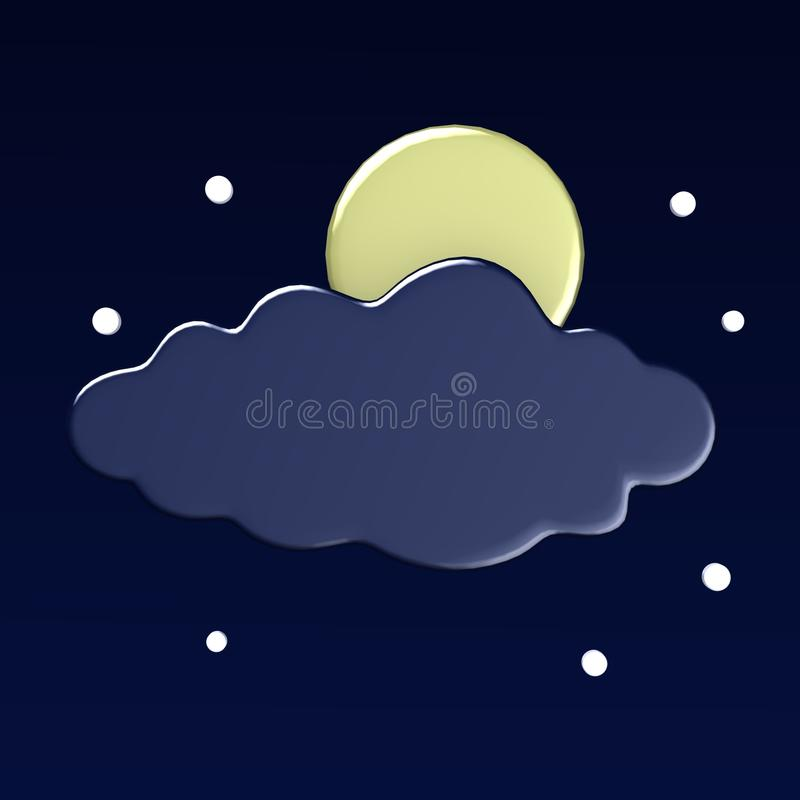 Download Weather icon stock illustration. Image of rainbow, night - 12844375