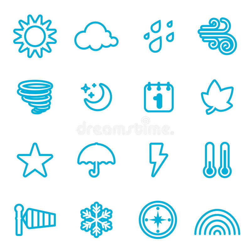 Weather icon. Set of weather icon vector vector illustration