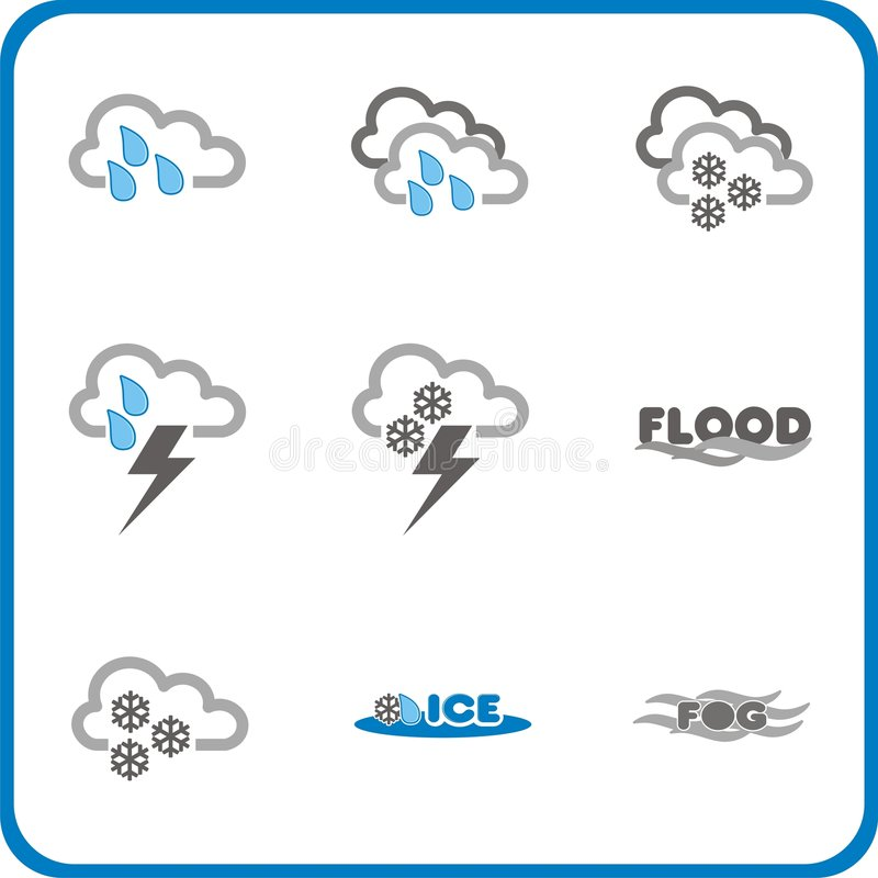 Weather icon 2 stock images