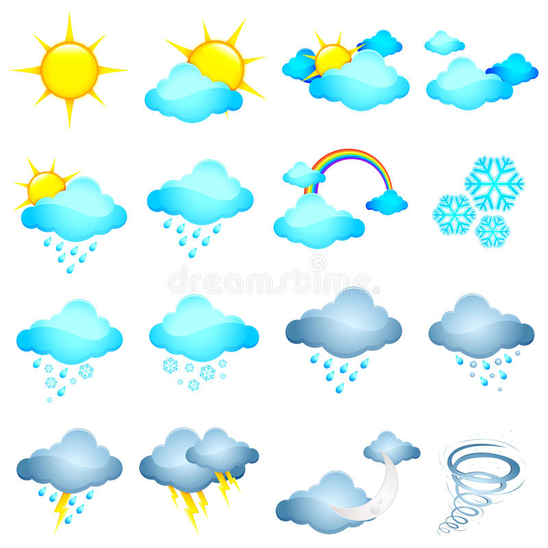Download Weather Icon stock vector. Image of lightning, climate - 22430091