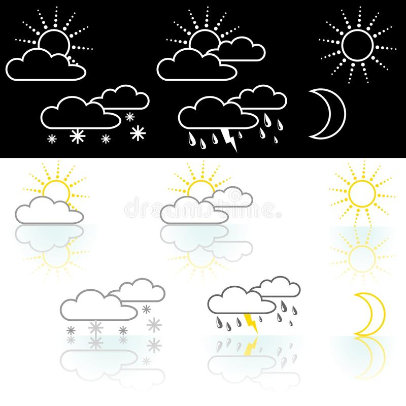 Download Weather Icon stock vector. Illustration of clouds, sunny - 25251487