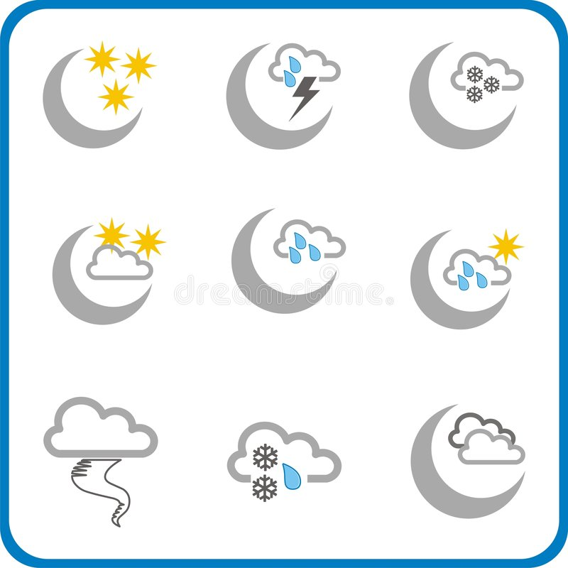 Weather icon 3 stock photo