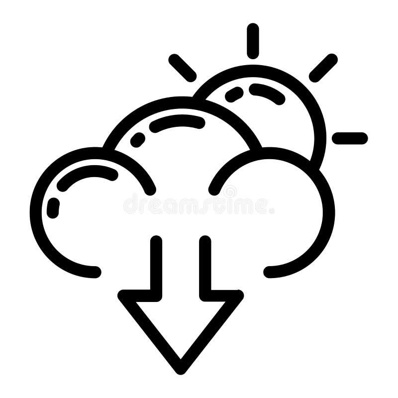 Weather icon design stock illustration