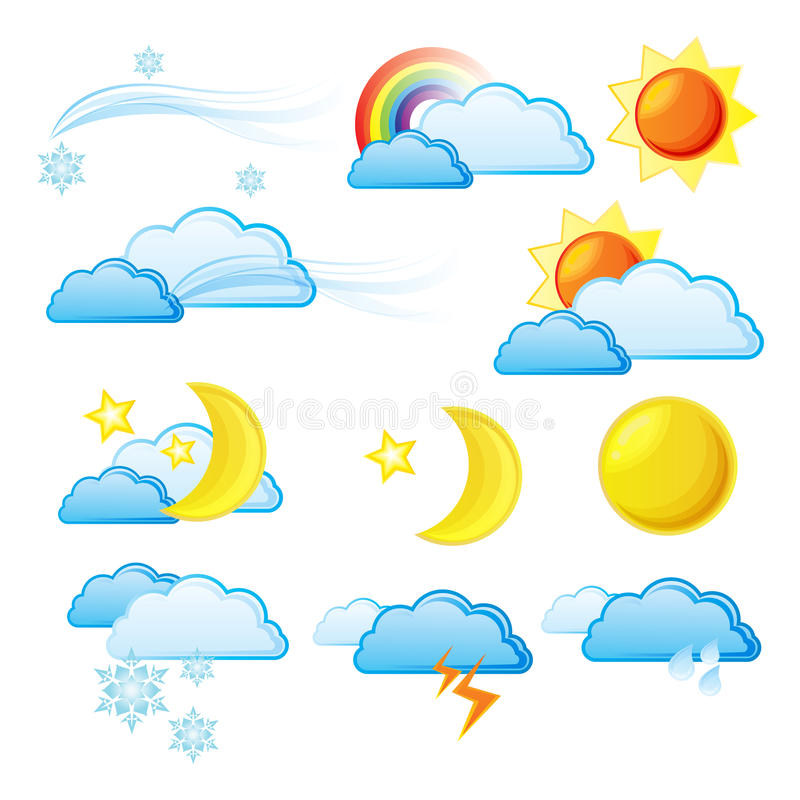 Download Weather Icon Set. stock illustration. Image of drop, nature - 17507932